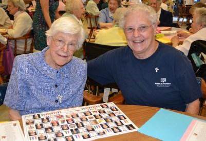 Sister Martha Steidl and Sister Joanne Golding