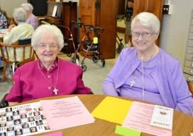 Sister Eileen Clare Goetzen and Sister Elaine Doucette