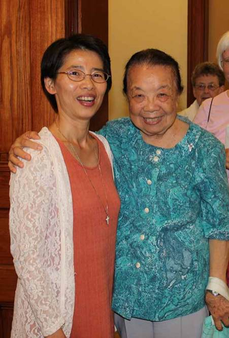 Sister Anna Fan (left) with Sister Donna Marie Fu.