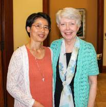 Sister Anna Fan (left) and Sister Marsha Speth, postulant director.