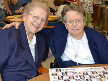 Sister Marie Grace Molloy (left) and Sister Rita Lerner.