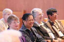 2015: Sisters (from left) Patty Wallace, Su-Hsin Huang, Barbara Bluntzer and Evelyn Ovalles laugh during a skit.