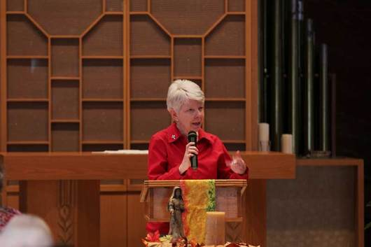 Sister Marsha Speth greeted all in attendance
