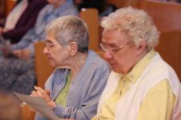 Sisters (from left) Rose Marita Riordan and Louise Schroeder