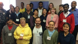 Blog post author Sister Tracey Horan, bottom row second to left, with her Inter-Community Novitiate group