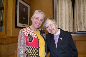 Sister Barbara Battista (left) and Sister Francis Edwards. Photo provided by Sue Weatherwax.