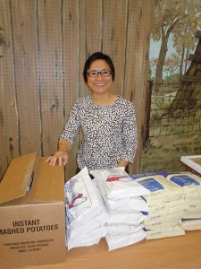 Sister My Huong Pham is one of more than 30 persons who volunteer at Providence Food Pantry.