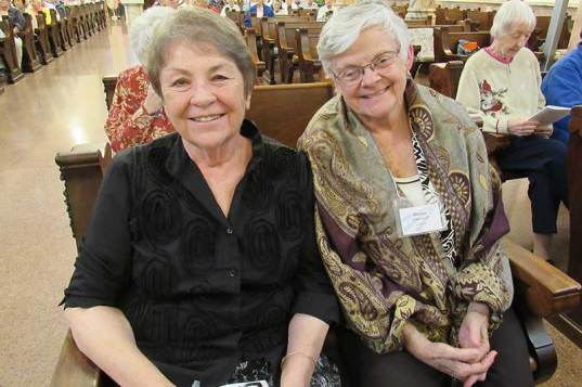 Sister Ann Sullivan (left) with Sister Denise Wilkinson. (Photo by Sister Joni Luna)