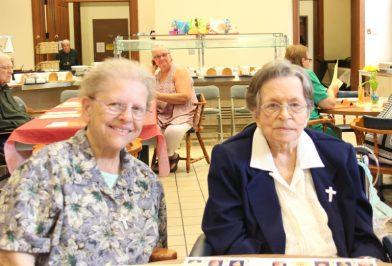 Sister Marie Grace Molloy and Sister Rita Lerner