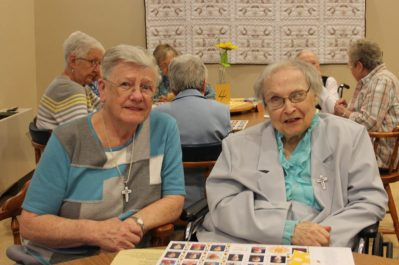 Sister Marilyn Trobaugh and Sister Mary Loyola Bender