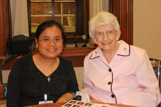 Sister Su-Hsin Huang and Sister Marilyn Therese Lipps