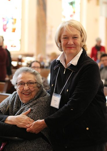 Sister Peggy Lynch, left, with her Providence Associate companion Christine Boyle.