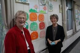 Sister Jenny Howard (left) and Sister Jeanne Hagelskamp.