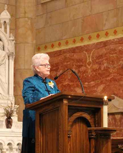 Vicar/General Officer Sister Lisa Stallings also participated in the readings during the mass.