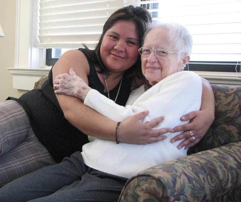Sister Cordelia Moran and friend Nancy Hernandez.