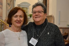Providence Associate Peggy Stewart with her companion Sister Terri Boland
