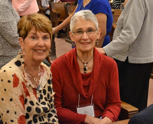 Sandra Powell with her companion Providence Associate Mary Longtine
