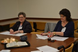 Sister Paula Damiano joins Providence Associate Rebecca Zelensky in leading a retreat for women ministers in 2016.