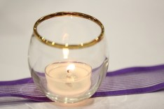 Candle table decoration