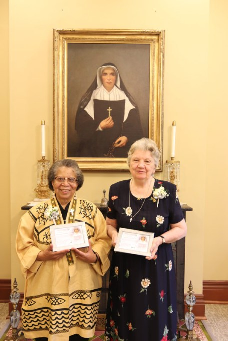 Sisters Pat Linehan and Kathleen Smith, two silver jubilarians.