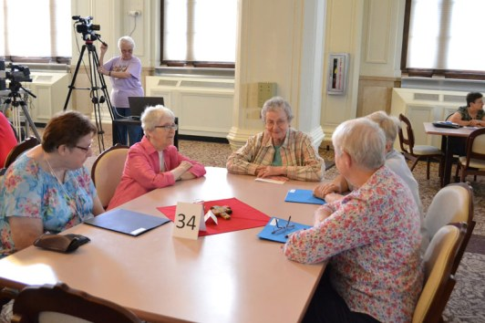 Table discussion from left, Sisters Maria Saracco, Margaret Quinlan and Alice Ann Rhinesmith.