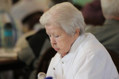 Sister Nancy Nolan during a reflective moment.