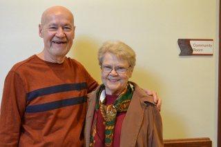 Candidate Stephen Modde and his companion Sister Carol Meyers.