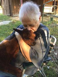 Back in 2019 Sister Ruth Johnson cuddles her namesake who is now Bella's mom.