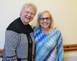Sister Mary Mundy with Providence Associate Mary Lou Petrisko.