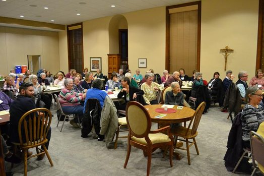 Retreat attendees enjoying Sister Dianne's wisdom and humor.
