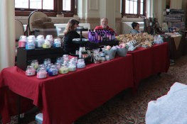 The Craft Fair homemade vendors filled the room at O'Shaughnessy's dining hall.