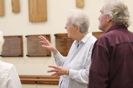 Sister Ann Casper giving a tour of Providence Hall for guests at Saint Mary-of-the-Woods.