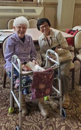 Sisters Florence Norton and Editha Ben.