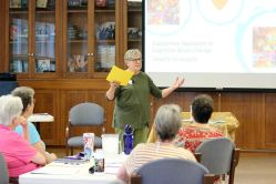 Providence Associate Jude Magers presents a dementia training workshop on Friday afternoon.