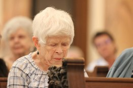 Sister Carol Nolan joins the prayer service