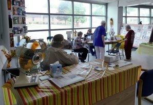Raffle tickets sell for a chance at a beautiful quilt, a food basket, a money tree and more.