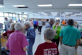 A good crowd assists the pantry in celebrating 25 years!