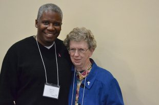 Providence Associate Candidate Marvin McCurry and his sister companion Sister Joseph Ellen Keitzer