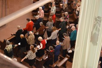 Providence Associates and sisters join hands in prayer