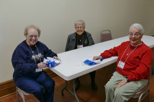 From left Sisters Carole Fedders, Jacquelyn Hoffman and Ann Matilda Holloran