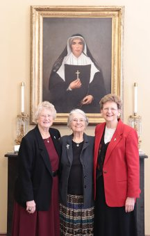 Sister Barbara Ann Bluntzer with General Officers Sisters Jenny Howard and Dawn Tomaszewski