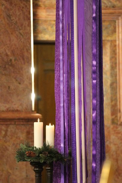 The Church decorated for Advent