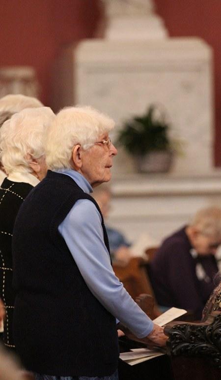 Sister Florence Norton at Mass