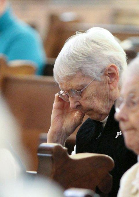 Sister Margaret Norris at prayer