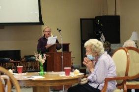Sister Mary Beth Klingel leads prayer