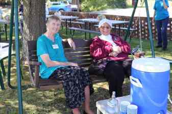 Sisters enjoying time together during the St. Joseph's lake blessing.