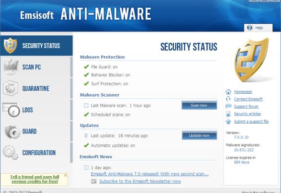 Emsisoft Anti-Malware 2018.3.1.8572 Crack