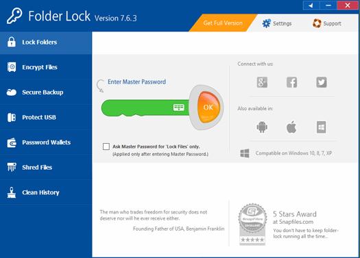 Folder Lock 7.7.5 Crack