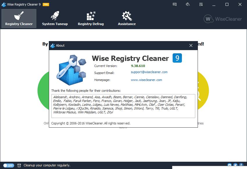 Wise Registry Cleaner 9.61.627 Crack