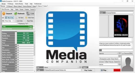 Media Companion 3.708 Beta (64-bit) Crack